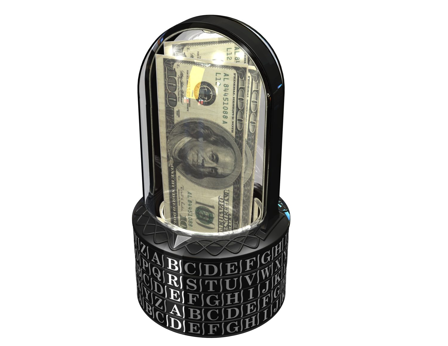 Puzzle Pod Gift Cryptex, Brain Teaser Puzzle and Coin Bank